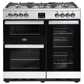 Belling 90 cm Cookcentre Dual Fuel Range Cooker - Stainless Steel - A Rated