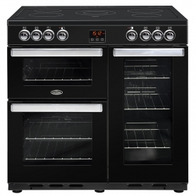 Belling 90 cm Cookcentre Electric Range Cooker - Black - A Rated