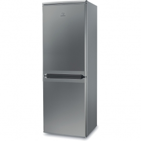 Indesit 55cm Fridge Freezer - Silver - A+ Rated