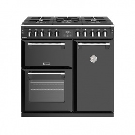 Stoves 90 cm Richmond Dual Fuel Range Cooker - Black - A Rated