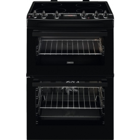 Zanussi 60cm Electric Cooker with Induction Hob - Black - A Rated